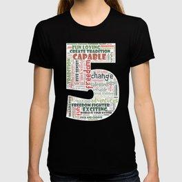 Life Path 5 (black background) T-shirt