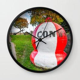 Conwy Buoy Autumn Wall Clock