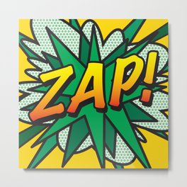 Comic Book ZAP! Metal Print