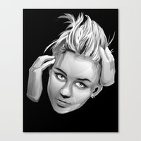 miley cyrus Canvas Prints featuring Miley Cyrus by anomaly alice