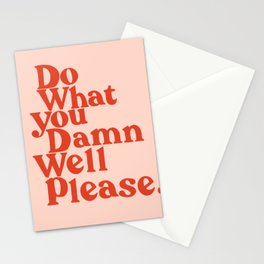 Do What You Please Stationery Cards