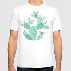 cactus Mens Fitted Tee MEDIUM White
