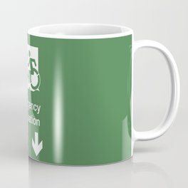 Accessible Means of Egress Icon, Emergency Evacuation Lift / Elevator Sign Coffee Mug