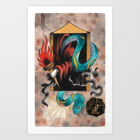 The Void is Become Resurrected Upon the Light of the Father Art Print