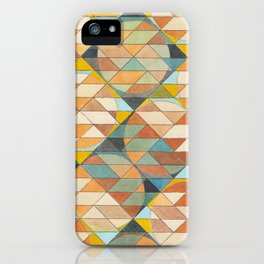 Triangles and Circles Pattern no.23 iPhone Case
