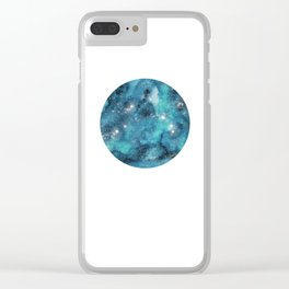 Aries zodiac constellation on the light background Clear iPhone Case