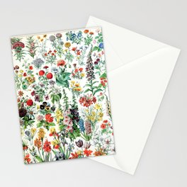 Adolphe Millot - Fleurs A - French vintage poster Stationery Cards