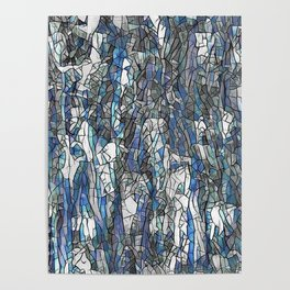 Abstract blue 2 Poster