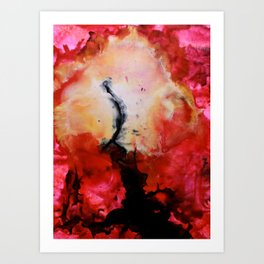 Reaching. Art Print