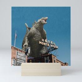 Godzilla Visits Heart of America Mini Art Print
