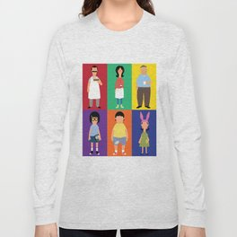 Bob's Bugers Characters Long Sleeve T-shirt