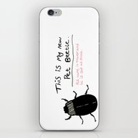 beetle iPhone & iPod Skins featuring Beetle by Laura Tucker