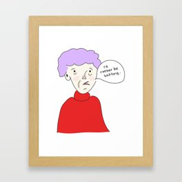 I'd Rather Be Knitting Framed Art Print