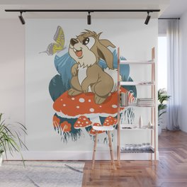 Summer Day in the Mountains Wall Mural