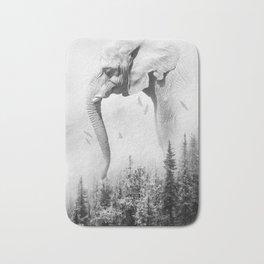 Elephant | Animal Photography | B&W | Nature | Fog | Wildlife | Abstract | Landscape Bath Mat