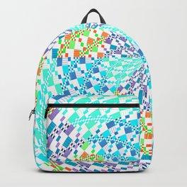 Vintage Whirlwind Spiral Quilt Patchwork Backpack