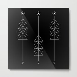 Triangle Totem Metal Print