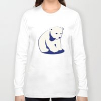 polar bear Long Sleeve T-shirts featuring Polar bear by Michelle Behar