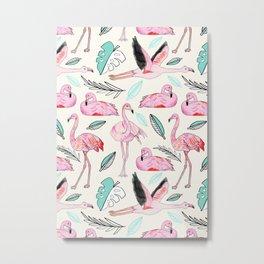 Flamingos Forever Metal Print