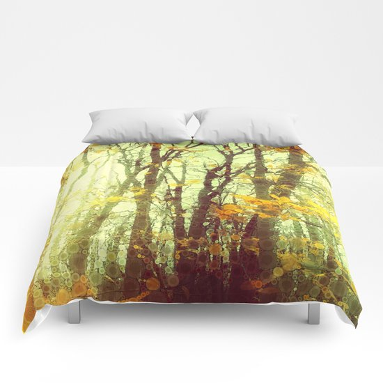 Woodland Abstract Comforters