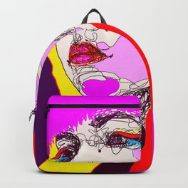 Red hand Backpack
