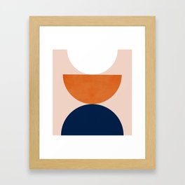 Abstraction_Balance_Minimalism_001 Framed Art Print