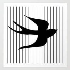 Swallow 1 Art Print