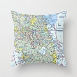 Florida VFR Sectional Throw Pillow