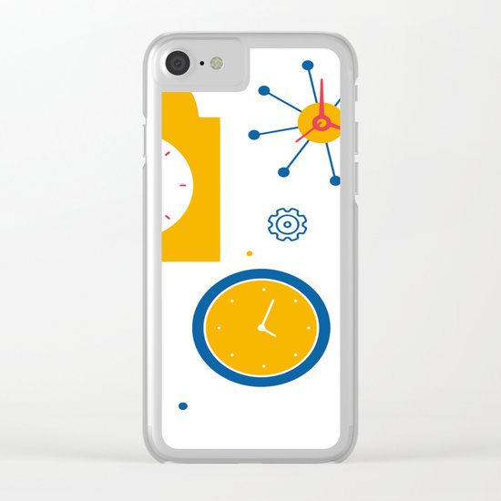 Clocks Clear iPhone Case