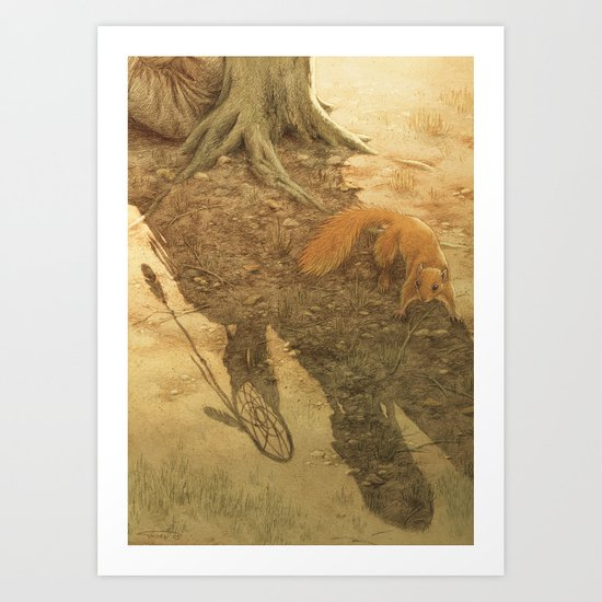 The dreamcatcher / Le piège à rêves Art Print