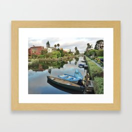 Venice Beach Canals Framed Art Print