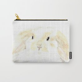 Soft Watercolor Bunny Carry-All Pouch