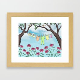 clean baby, happy home Framed Art Print