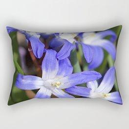 Early Spring Blue - Chionodoxa Rectangular Pillow
