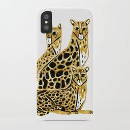 Gold Cheetahs iPhone Case
