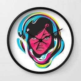 CMYK girl Wall Clock