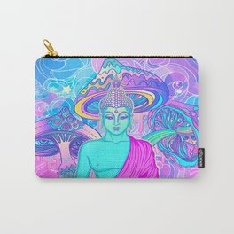 Sitting Buddha among psychedelic Mushrooms Carry-All Pouch