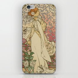 Camille by Alphonse Mucha iPhone Skin