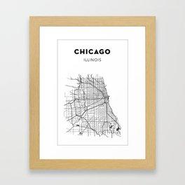 CHICAGO MAP PRINT Framed Art Print