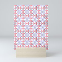 symetric patterns 71 -mandala,geometric,rosace,harmony,star,symmetry Mini Art Print