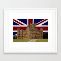 downton abbey Framed Art Prints featuring Downton Abbey by MarkDraper