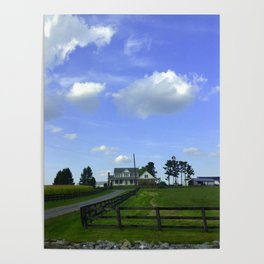 Scenic View Of Horse Farm In Damascus Maryland Poster