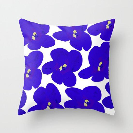 Blue Retro Flowers #decor #society6 #buyart by pivivikstrm
