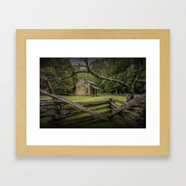 Oliver Log Cabin in Cade's Cove Framed Art Print