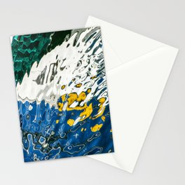 Yellow Blue Green Abstract Stationery Cards