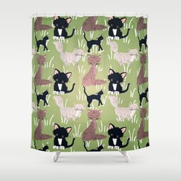 Cats Meadow Shower Curtain