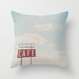 a cafe along Route 66 ... Throw Pillow