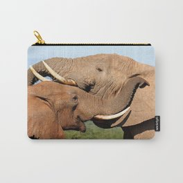 Elephant love, Africa wildlife Carry-All Pouch