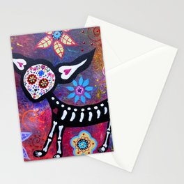 Mexican Dia de los Muertos Chihuahua Painting Stationery Cards