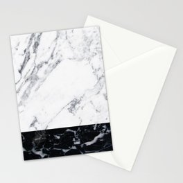 Marble Black & White Stationery Cards